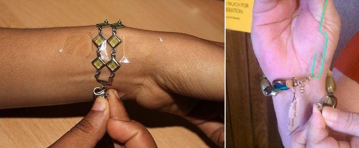 Due soluzioni per chiudere un braccialetto senza dover chiedere aiuto a qualcuno.