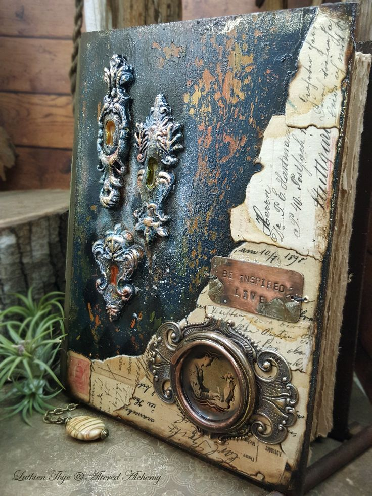 the Weaver - Luthien Thye >>>>> Mixed media blank journal (SOLD)