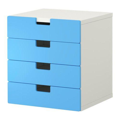 สตูฟว่า ตู้ลิ้นชักเก็บของ - ขาว/น้ำเงิน - IKEA