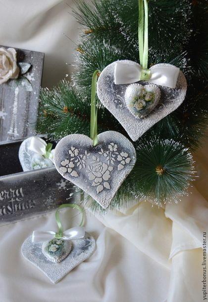 """Короб с подвесками """"Рождественские каникулы в Париже"""" - коричневый,белый цвет"""