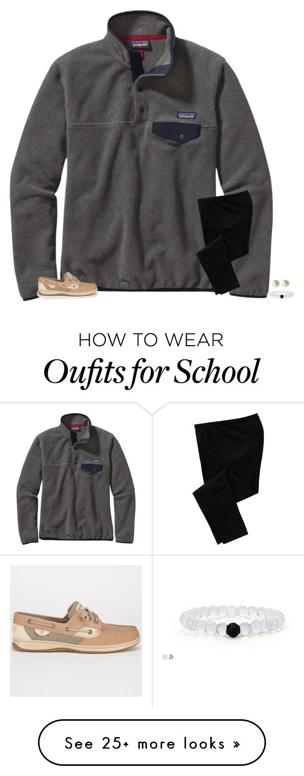 """ew school tomorrow"" by secfashion13 on Polyvore featuring Patagonia, Sperry Top-Sider, Old Navy and Carolee"