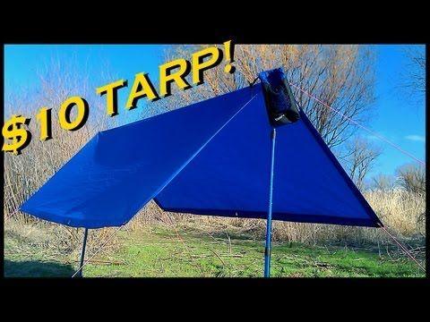 ▶ CHEAP Ultralight Backpacking Tarp - YouTube