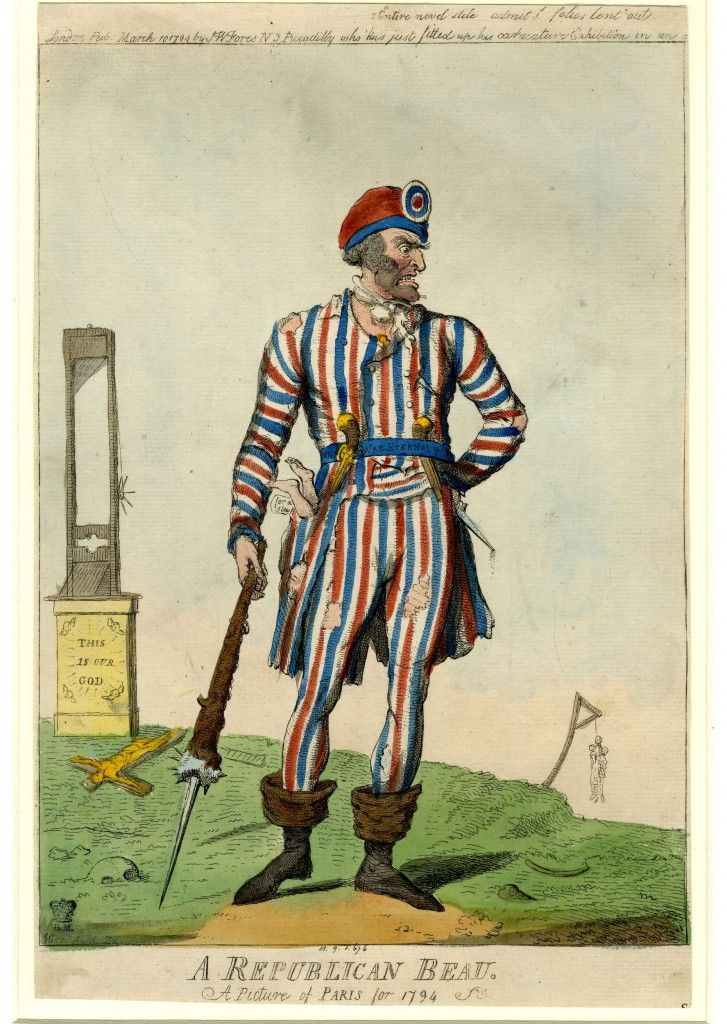 Cruikshank I.: A republican beau. A picture of Paris for 1794 (10 March 1794, S. W. Fores).