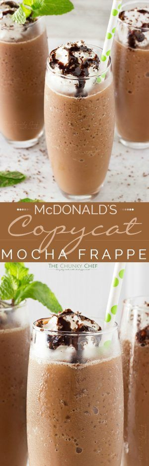 Copycat Mocha Frappe | Forget spending your hard earned money on a frozen coffee drink, make your own mocha frappe at home!! Easy to make, plus tips to flavor it however you like! | http://thechunkychef.com