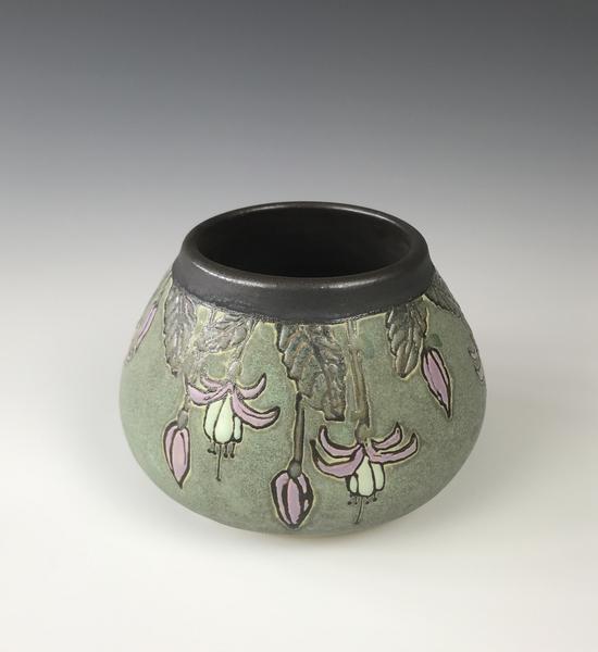 Craftsman Bowl of Fuschias by Taira Wiggins | Sweet Earth Pottery