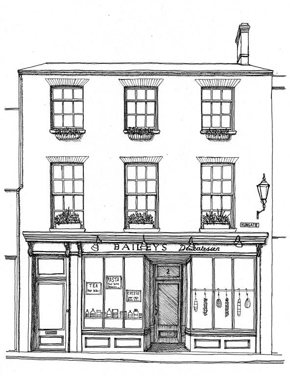 Building Illustrations - Delicatessen, Beccles