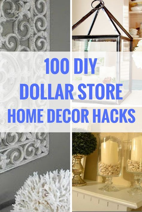 100 Dollar Store DIY Home Decor Ideas Budget Living RoomsBudget BedroomLiving Room