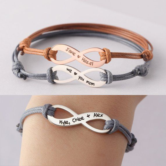 Mother Bracelet From Daughter Mom Jewelry With Kids Names