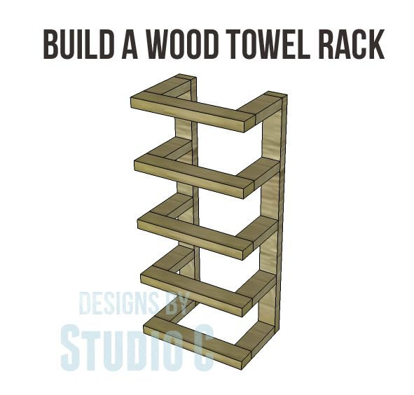 Build A Wood Towel Rack With Instructions And Dimensions