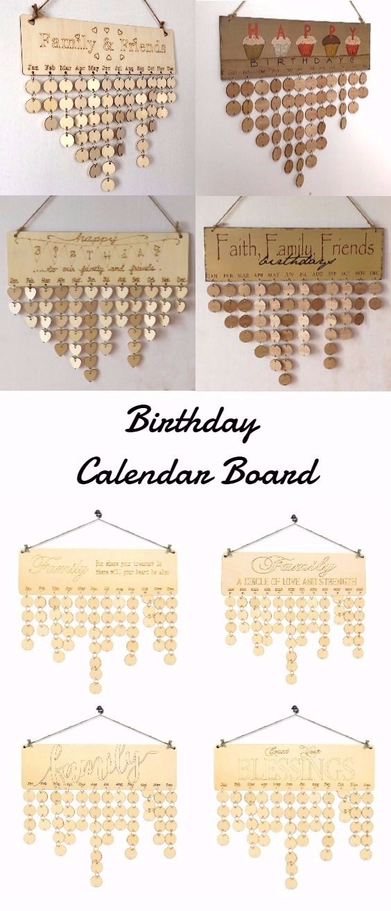 Birthday Calendar Board #woodworkingideas