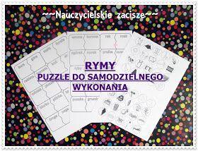 rymy - puzzle do samodzielnego wykonania