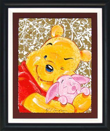 Framed - Winnie the Pooh - VIP - Very Important Piglet- David Willardson - World-Wide-Art.com - #davidwillardson #disney