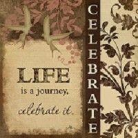 Жизнь это путешествие праздновать это Дженнифер Пью Печать -12x12
