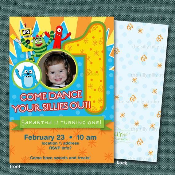 12 best sn studio::yo gabba gabba party images on pinterest, Wedding invitations