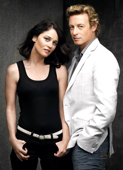 Robin Tunney (Lisbon) and Simon Baker(Jane) - The Mentalist #MENTAList