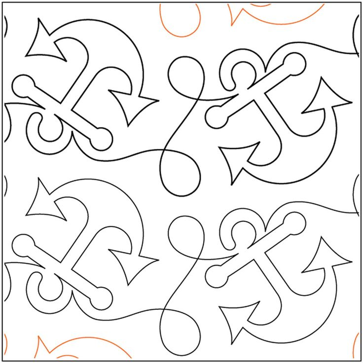 Quilt Stencils By Patricia Ritter Anchors Aweigh 7.75in