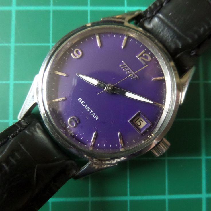 TISSOT SEASTAR - 1952 Vintage, Date Window, Guaranteed Genuine, Swiss made Gents/Mens mehanical mechainsim wrist watch by EWcoLondon on Etsy