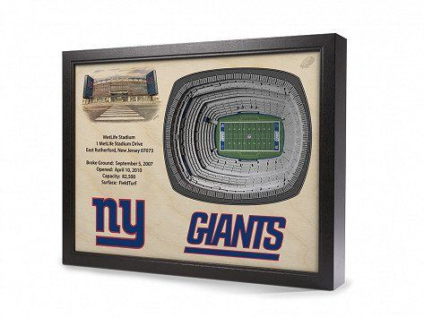 These 3D stadium replicas pay tribute to some of the most famous (and beloved) professional and college sports stadiums in the USA—and they're made here, too. Precision-cut pieces of wood are layered to create an aerial, three-dimensional effect. Hand-drawn details (like field lines and facts about the stadium) finish off these framed and ready-to-hang designs that are sure to be a fan favorite.
