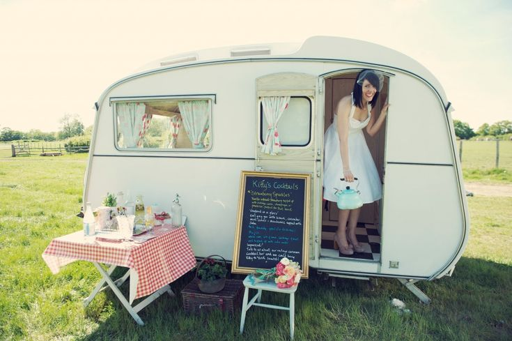 How about having a cocktail caravan for your guests at your wedding reception? A great ice breaker.