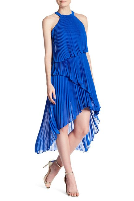 0295f6d902a Laundry By Shelli Segal Pleated Chiffon Cocktail Dress