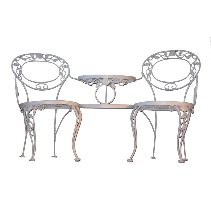 Rare Tete A Tete or Garden Bench by Woodard   From a unique collection of antique  garden furniture at http://www.joanbogart.com/gardenantiques.php