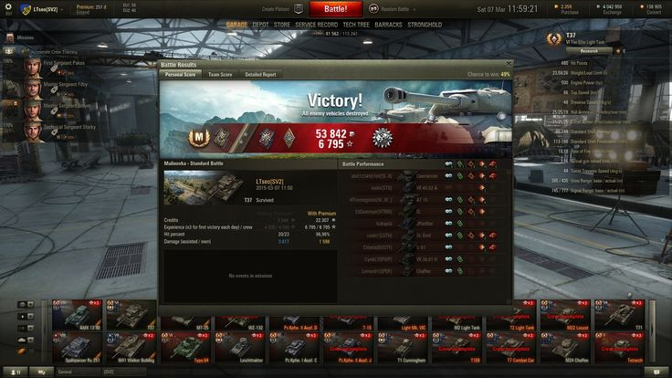 T37 light tank, ACE, Patrol Duty and 2 Marks Of Excellence