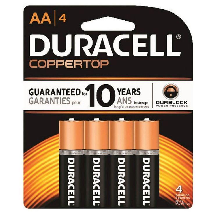 Duracell Coppertop AA Batteries 4-pk.