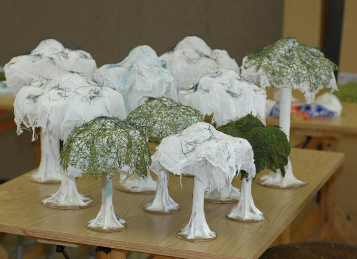 How to Make Miniature Trees for Wargaming Terrain Simply - induced info