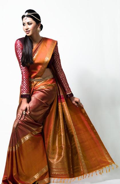 Gayathri Iyer in venkatagiri silk sarees Ad photoshoot ~ Tamil actress