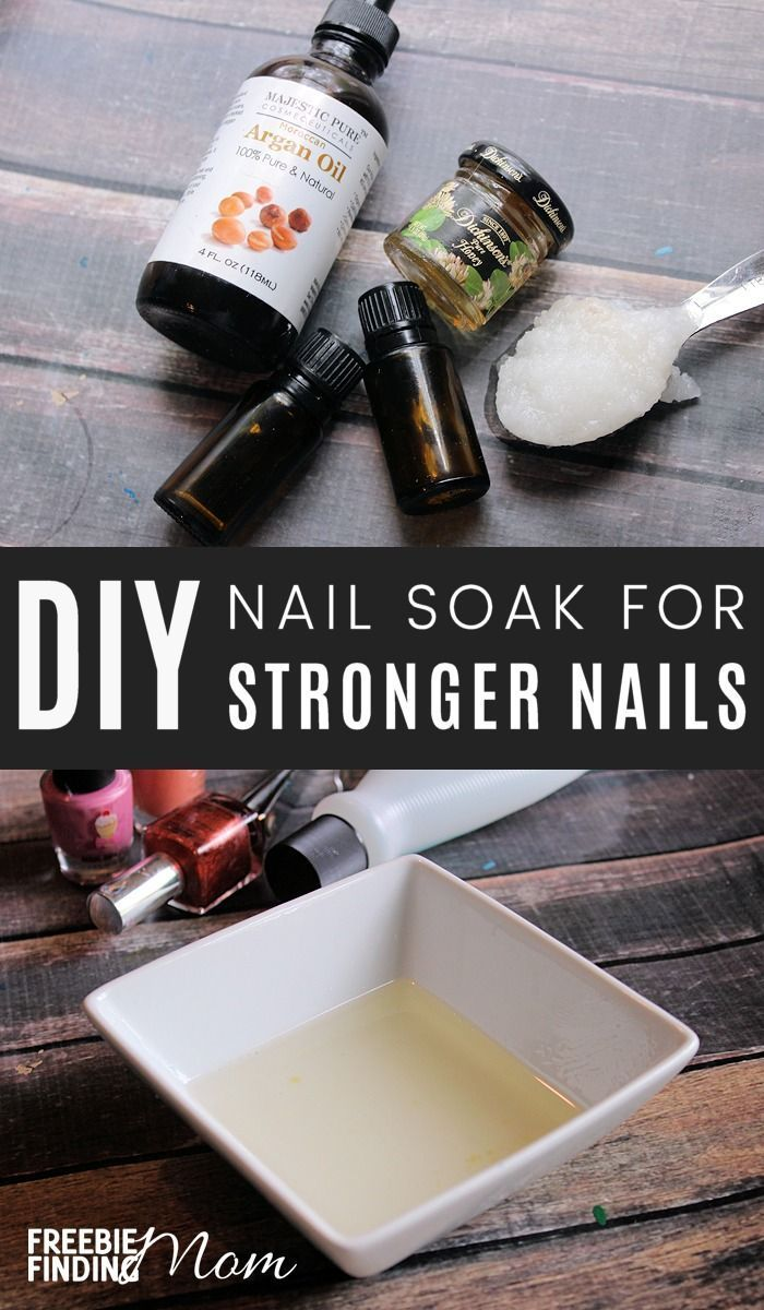 Are your nails thin, brittle or torn? Here you will learn how to strengthen your nails by using homemade nail soaks. You just need coconut oil, argan oil, honey and a couple of essential oils to create a powerful natural nail care recipe that with repeated uses will give you strong, beautiful nails.