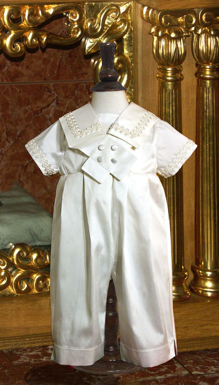 Catholic Baptism Outfits for Boys   Welcome to our Heirloom Christening Romper Collection