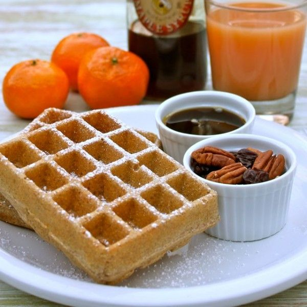 Simple Spelt Waffles - these are awesome tasting and don't stick to the waffle maker!