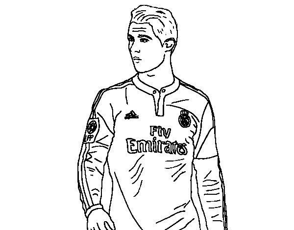 Dibujo Cristiano Ronaldo Para Colorear Coloring Pages Sports