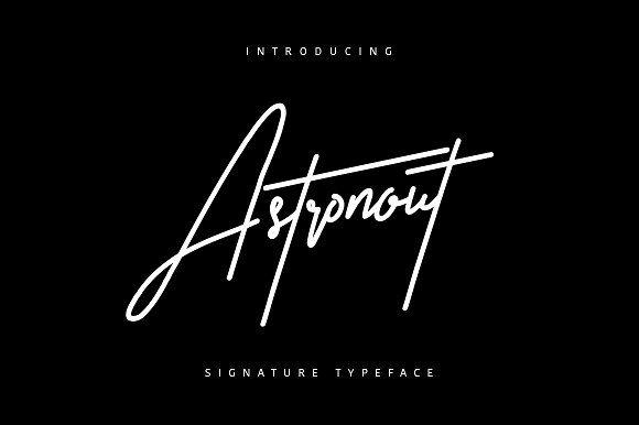 Astronout Signature by Maulana Creative on @creativemarket