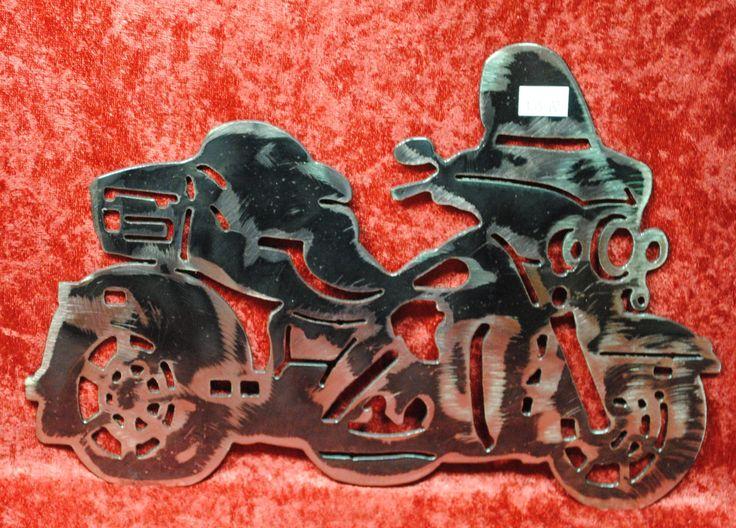 """Trike Motorcycle 12"""", Biker, Three Wheel Motorcycle, Metal Art, Metal Wall Art, Metal Decor, Metal Motorcycle, Biker Chic, Biker Guy, Gift by CassteenIronworks on Etsy"""
