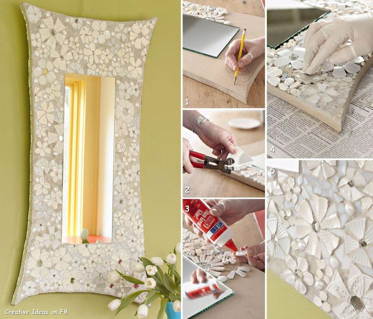 Pretty Mirror with recicled materials
