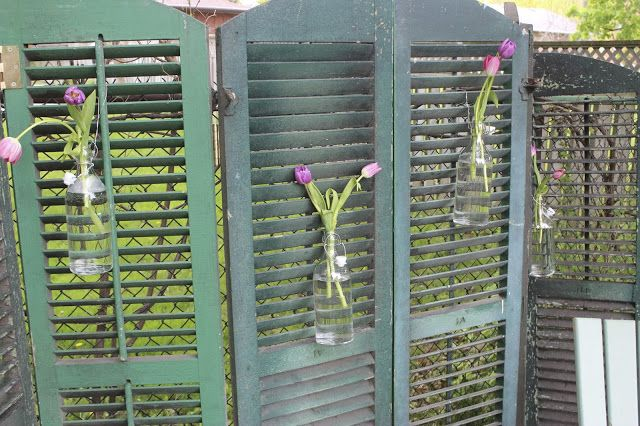 Using Old Shutters in the Garden