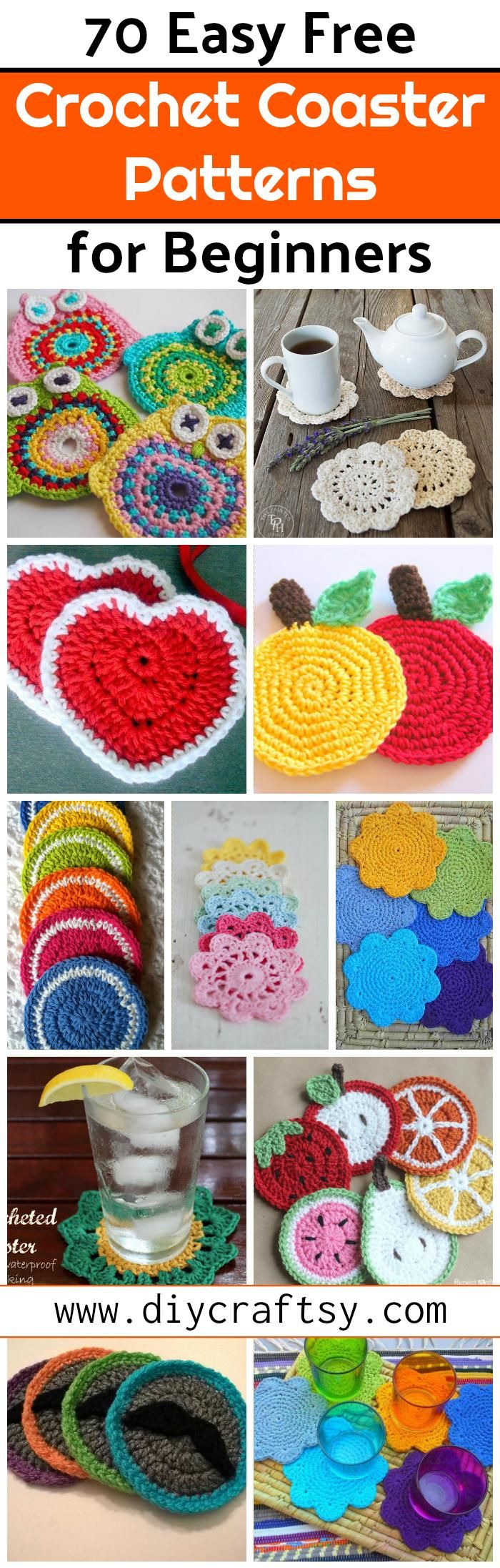 You can create beautiful crochet coasters using your crochet hook! We have shared here are 70+ free crochet coaster patterns with all instructions that