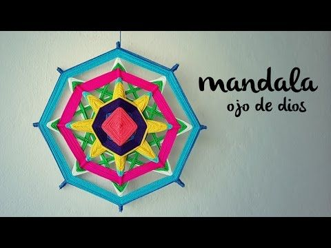 MANDALA TEJIDO | Ojo de Dios (ENGLISH SUB) | tutorial paso a paso AHUYAM...