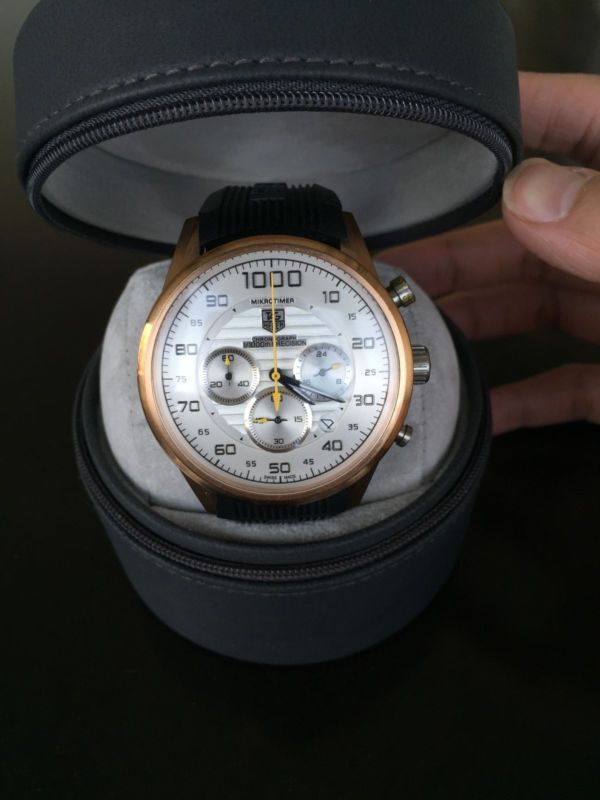 Tag Heuer Carrera 1000 Chronograph CV2014-2 Men's 44m Automatic Swiss Wrist Watch
