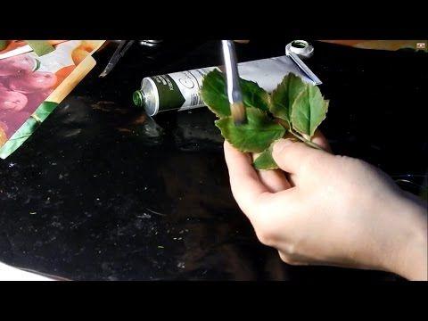лист розы из холодного фарфора - YouTube