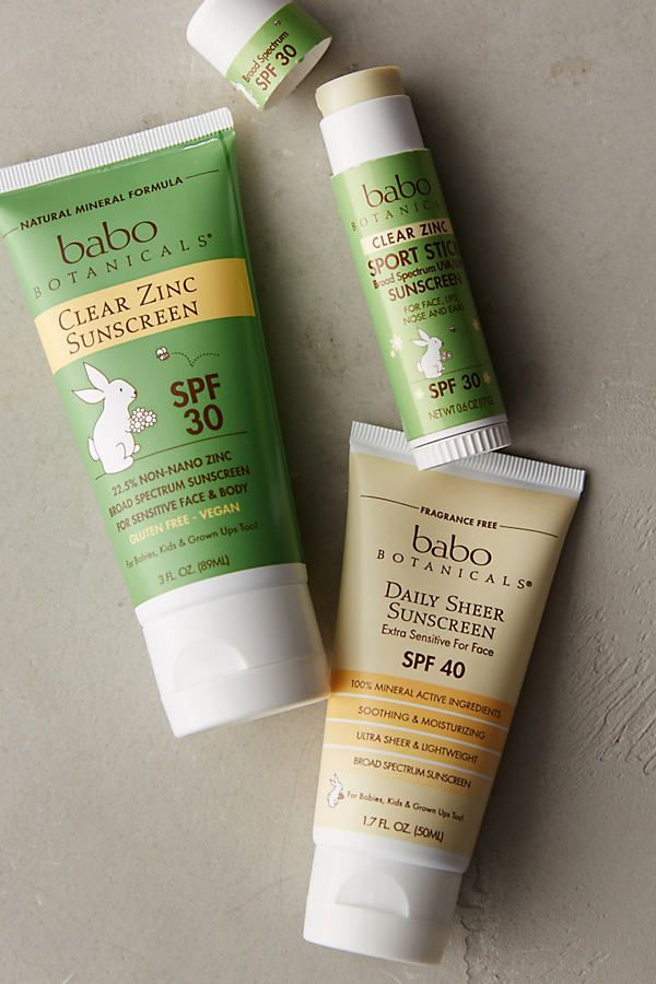 Babo Botanicals Daily Sheer Sunscreen Sunscreen Zinc Sunscreen