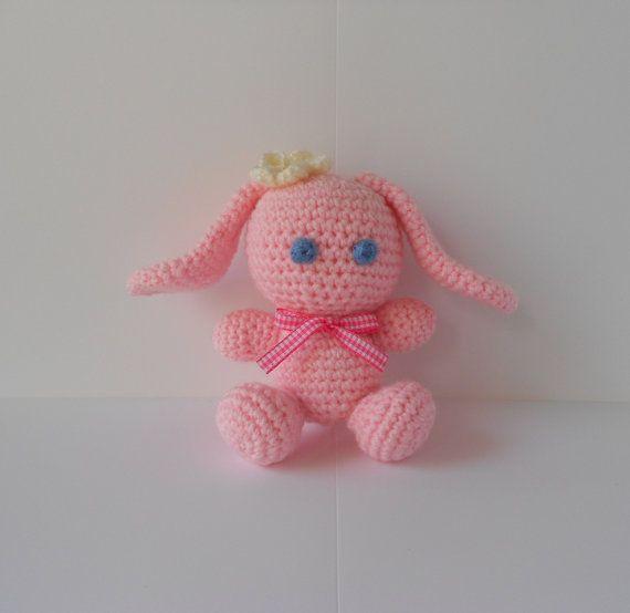Amigurumi bunny crocheted bunny amigurumi toy by PinkOliveGifts