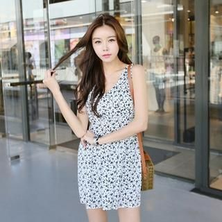 Sleeveless Twisted Strap Floral Print A-Line Minidress from #YesStyle <3 Koo YesStyle.com