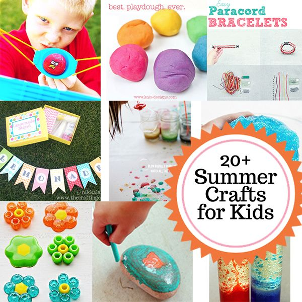20 summer crafts for kids: Crafts For Kids, Kids Diy, Activities For Kids, Cool Crafts, Fairies Houses, Kids Crafts, 20 Summer Crafts, Crafts Activities, Summer Fun