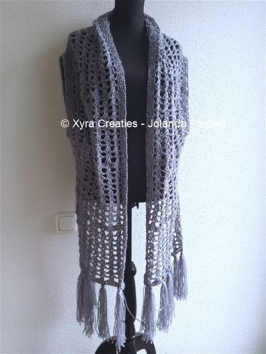 #PATR1061 #Xyra #xyracreaties #sjaalvest #vest #gilet #sleeves #shrug #sjaal #scarf #scarfvest #haakpatroon #patroon #haken #gehaakt #crochet #pattern #crochetpattern #DIY #haakpatroon #patroon #haken #gehaakt #crochet #pattern #DIY #Patroon PATR1061 (NL) is beschikbaar via: Pattern PATR1061 (English-US) is available at: www.xyracreaties.nl www.ravelry.com/stores/xyra-creaties www.etsy.com/shop/XyraCreaties