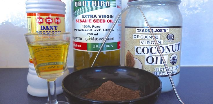 Oil-pulling.  And now- the rest of the story!  :)  seriously though- some good, knowledgeable information on Ayurdeivic practices!  :)
