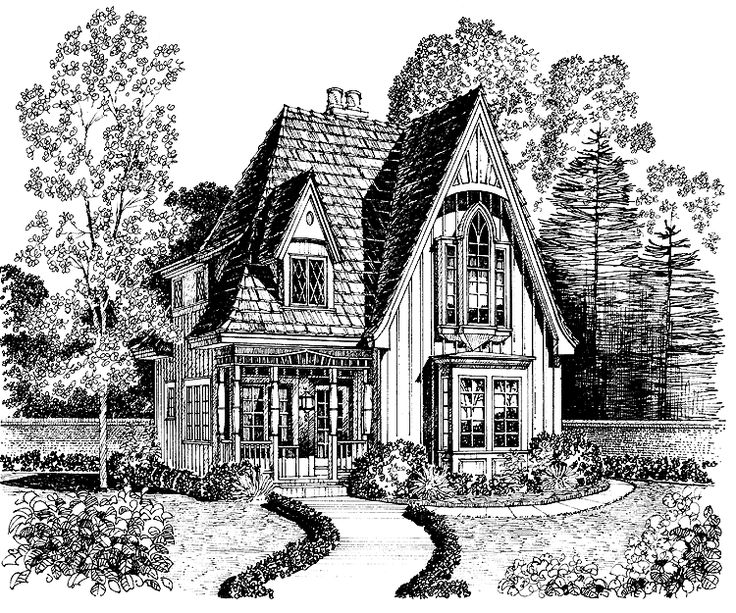 gothic revival house plan with 1183 square feet and 2 bedrooms from dream home source