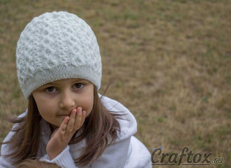 схема шапочка для девочки спицами