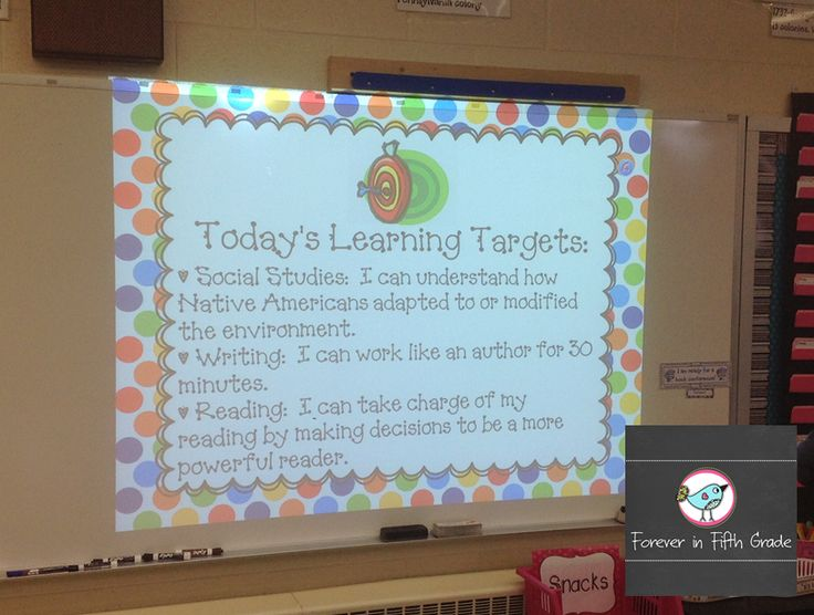Forever in Fifth Grade: Tried it Tuesday-Free editable learning target display!